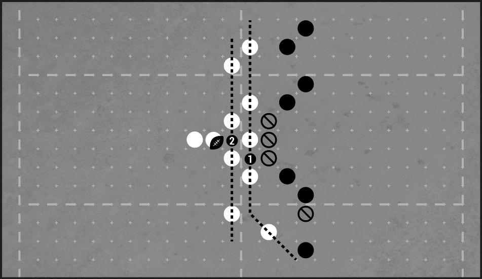 Blood Bowl Diagram - Using two screens